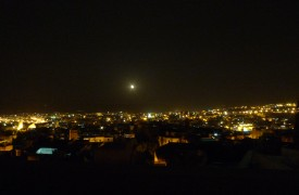 Panoramic view of Medina at Night
